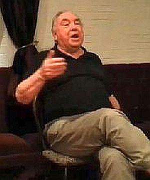 Roy Harris: his last appearance at Llantrisant Folk Club September 2013