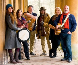 Allan Yn Y Fan: from left, Catrin O'Neill, Linda Simmonds, Chris Jones, Alan Cooper, Kate Strudwick and Geoff Cripps
