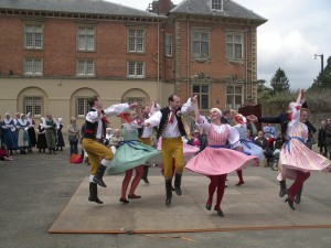 Flashback to yesteryear's festival: The imposing and beautiful Tredegar House acts as a backdrop to these dancers from Prague. Photo: Mick Tems